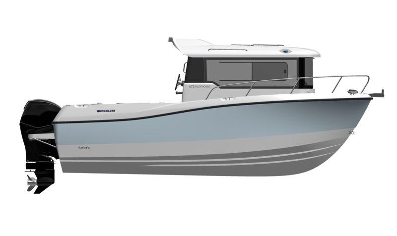 quicksilver 675 pilot house   bateau moteur neuf